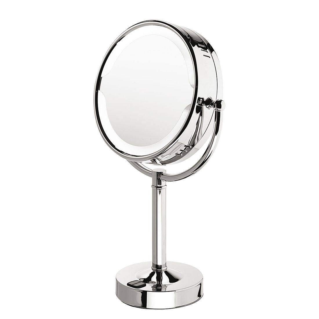 Standspiegel Tanja – Chrom, beleuchtet, 3-fache Vergrößerung, Nicol-Wohnausstattungen günstig kaufen