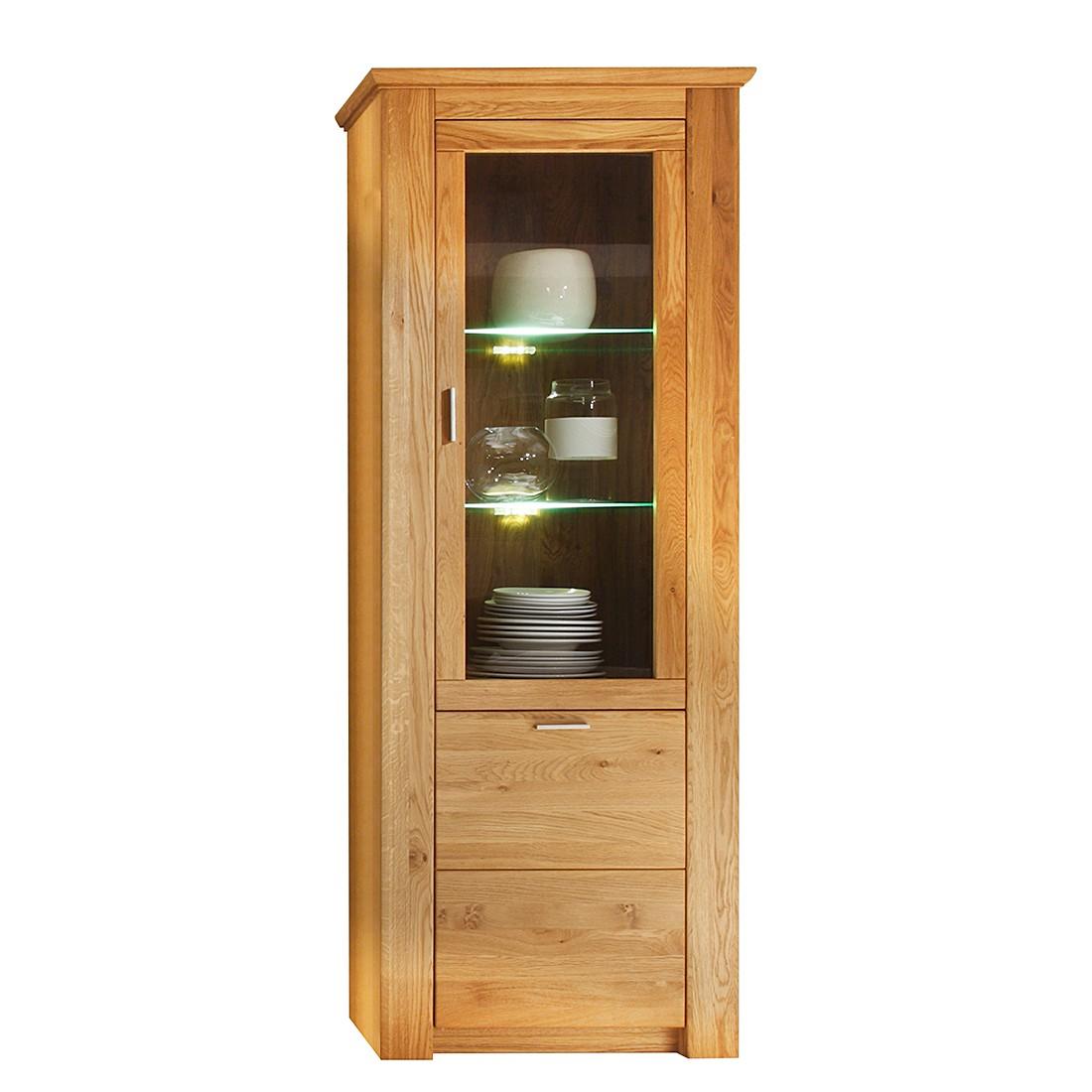 standvitrine cleveland ii wildeiche teilmassiv t ranschlag rechts kerkhoff online kaufen. Black Bedroom Furniture Sets. Home Design Ideas