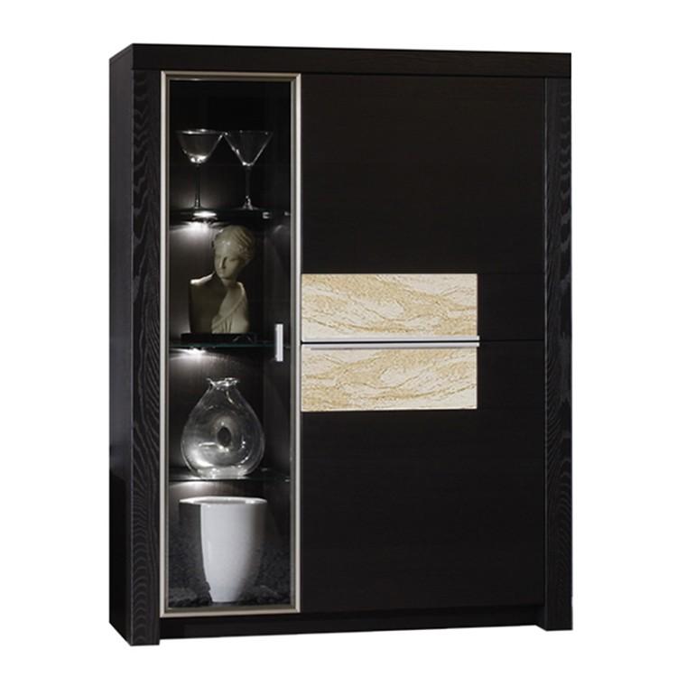 standvitrine tornado schwarzbraun lackiert sandstein ausf hrung mit beleuchtung schrank. Black Bedroom Furniture Sets. Home Design Ideas