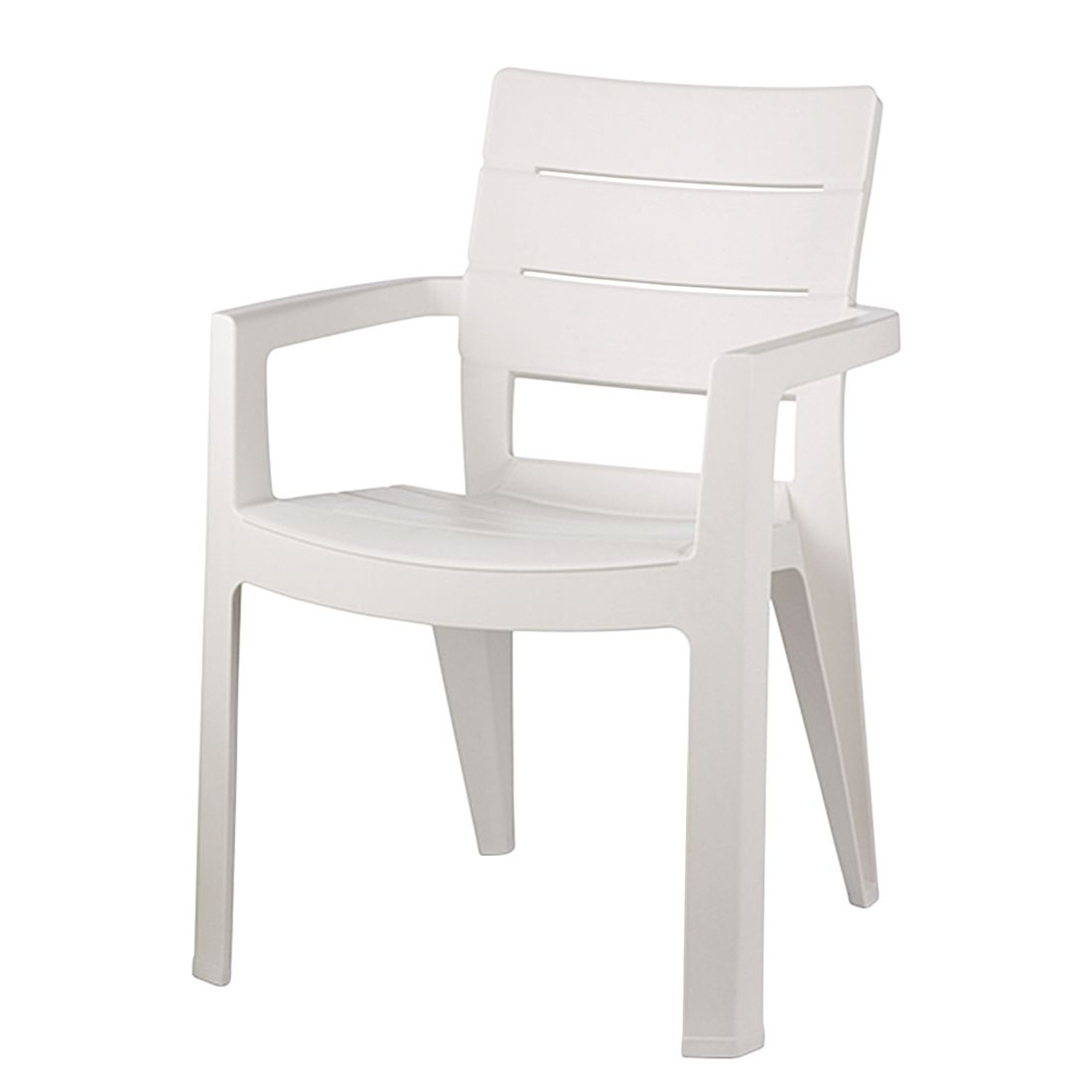 Stapelstuhl Miramar - Kunststoff Weiß, Jardin