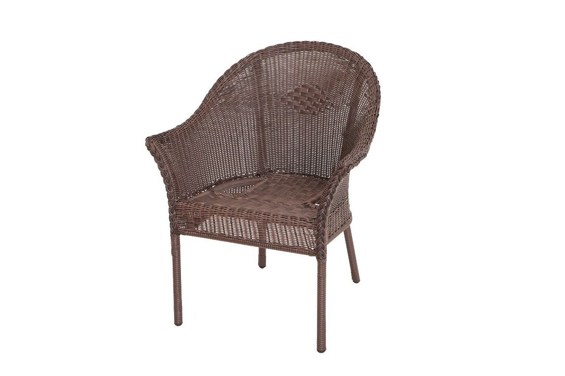 stapelstuhl salentina 2er set aluminium polyrattangeflecht schokobraun. Black Bedroom Furniture Sets. Home Design Ideas