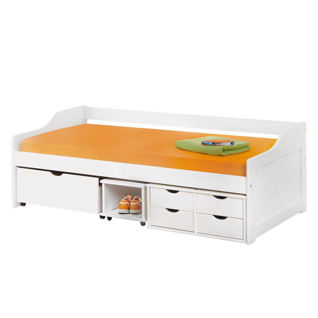 23 sparen stauraumbett floro von interlink nur 259 99 cherry m bel home24. Black Bedroom Furniture Sets. Home Design Ideas