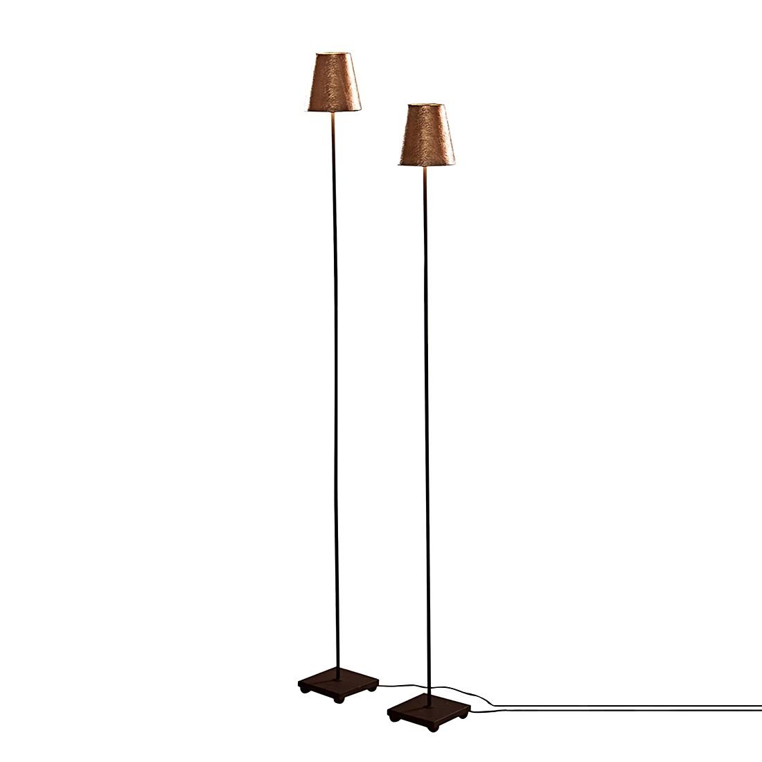 Stehlampe 2er Set Tacoma – Fuß: Eisen, Schirm: Kunststoff antikgold/schwarz, Loberon online kaufen