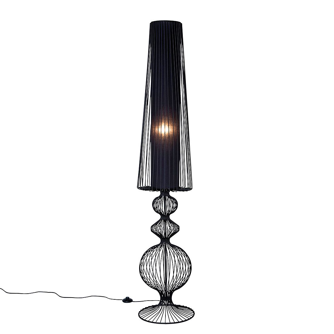 Stehlampe Swing Iron Uno ● Eisen Schwarz- Kare Design A++