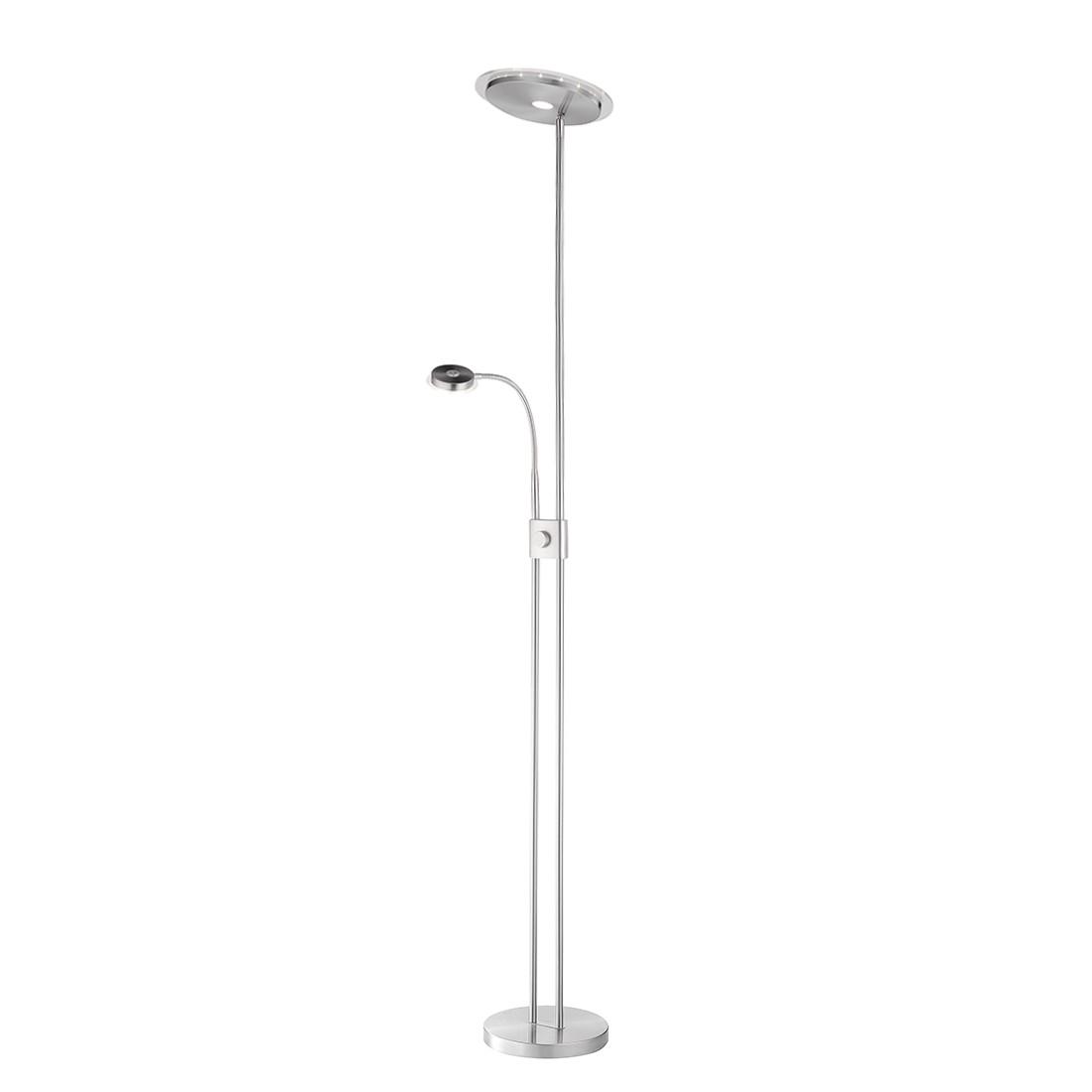 LED-Stehleuchte Adrian by Leuchten Direkt ● Eisen/Stahl ● Silber- Leuchten Direkt A+