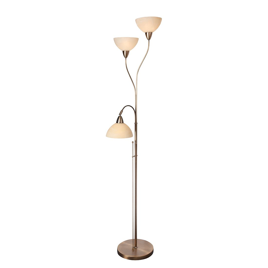 stehleuchte burgundy 3 flammig messing br niert steinhauer a bestellen. Black Bedroom Furniture Sets. Home Design Ideas