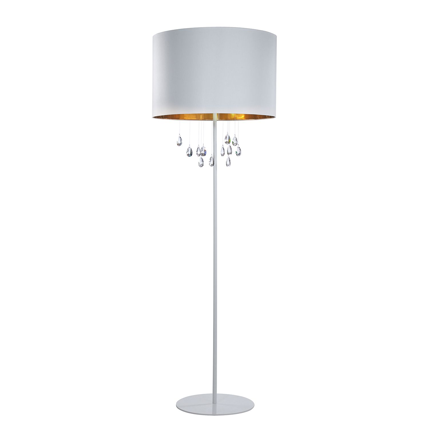 Stehleuchte Grace by Lampadina ● Metall/Glas ● Gold ● 4-flammig- Lampadina