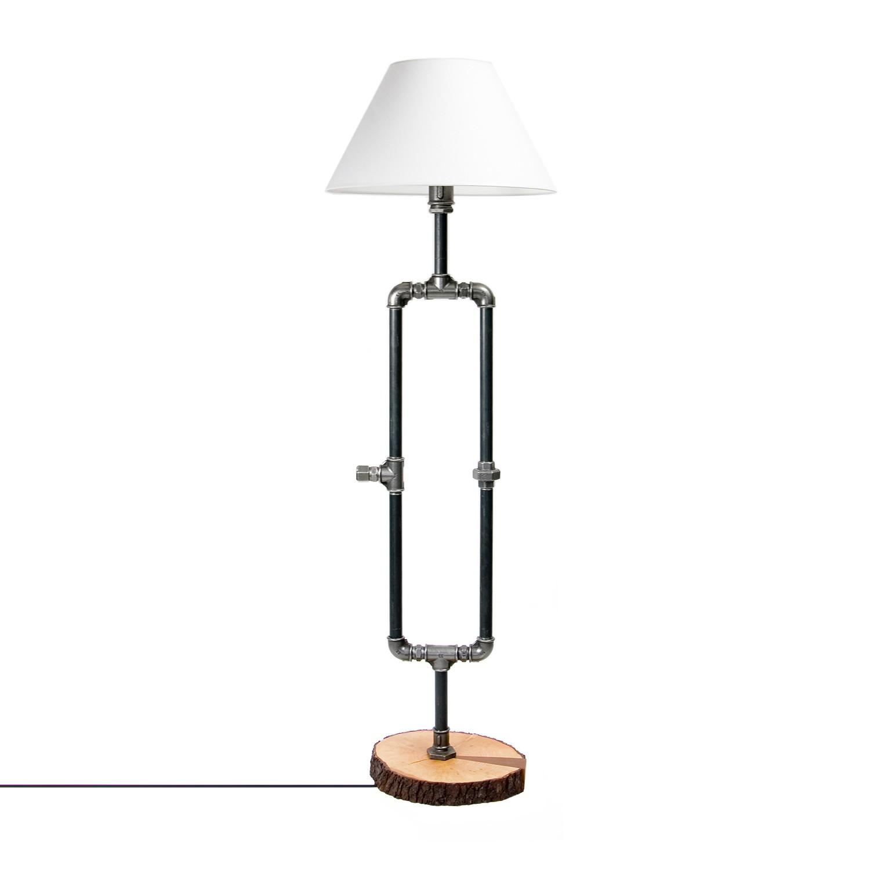 Stehleuchte Somerton ● Metall / Webstoff ● Silber / Weiß- Gie el Home