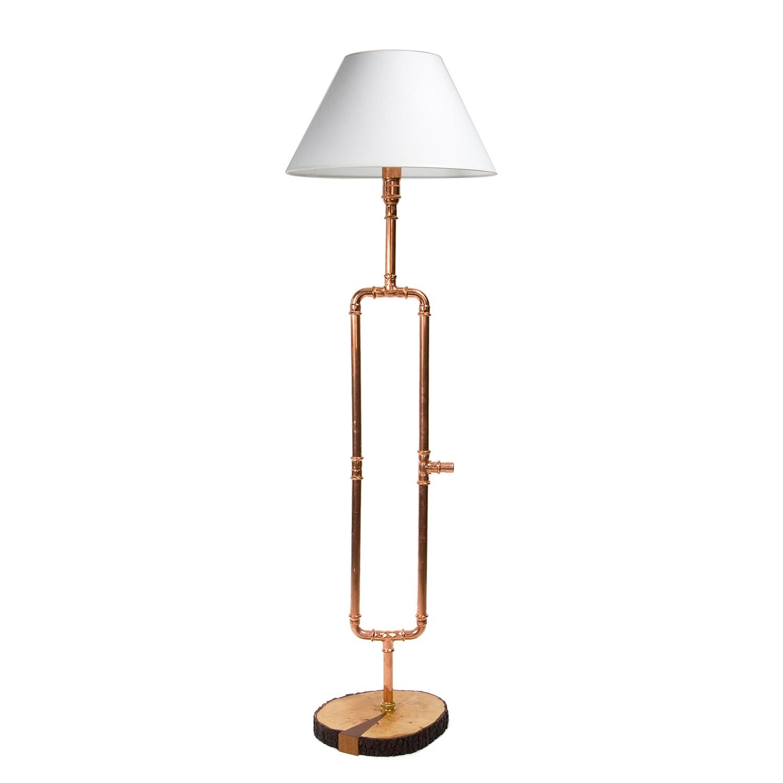 Stehleuchte Somerton ● Metall / Webstoff ● Kupfer / Weiß- Gie el Home