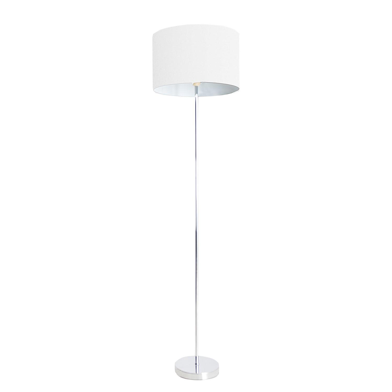 energie  A++, Staande lamp - stof/metaal zilverkleurig 1 lichtbron, Näve