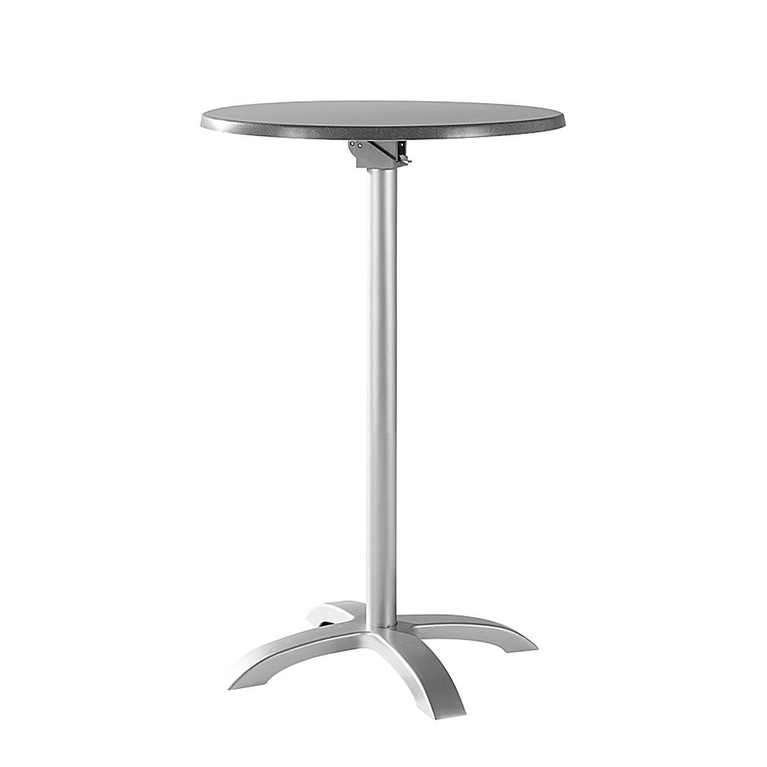 Stehtisch Maestro - Aluminium/Werzalit - Silber/Acantus Dekor, Best Freizeitmöbel