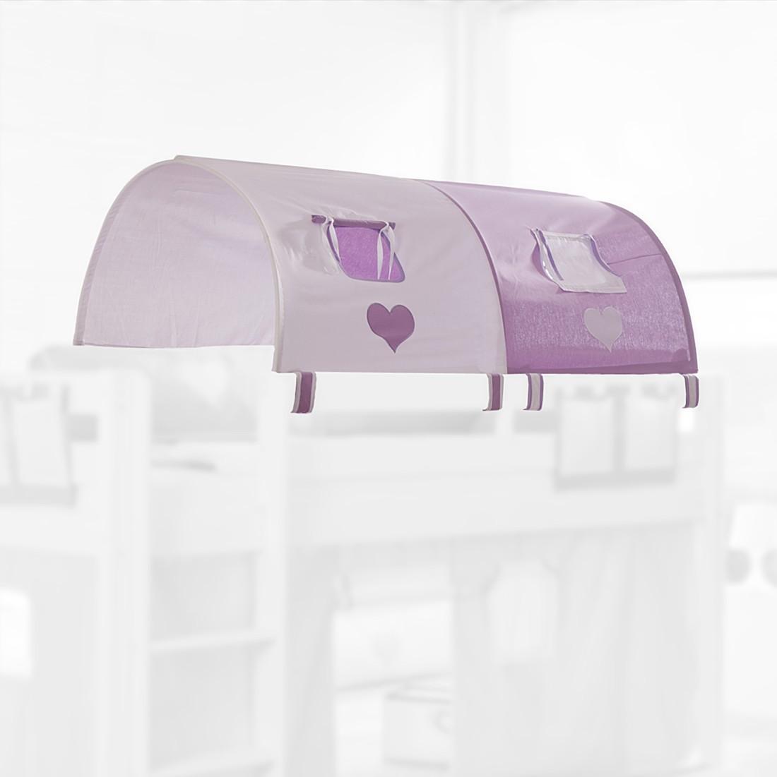 Stofftunnel lila/weiß/Herz Relita – 2-er – Baumwolle, Relita online bestellen
