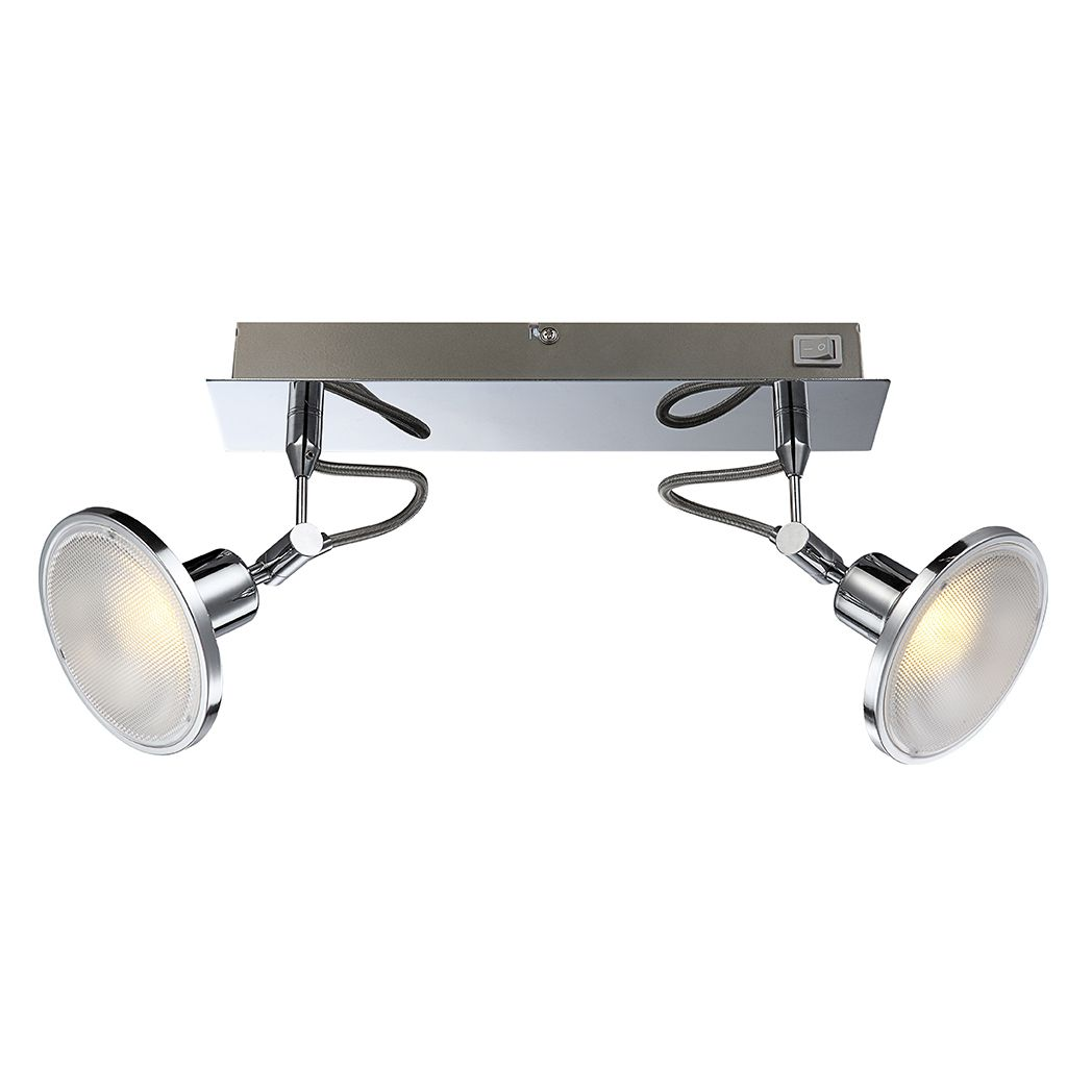 Strahler AARON – Metall – Silber – 2-flammig, Globo Lighting günstig kaufen