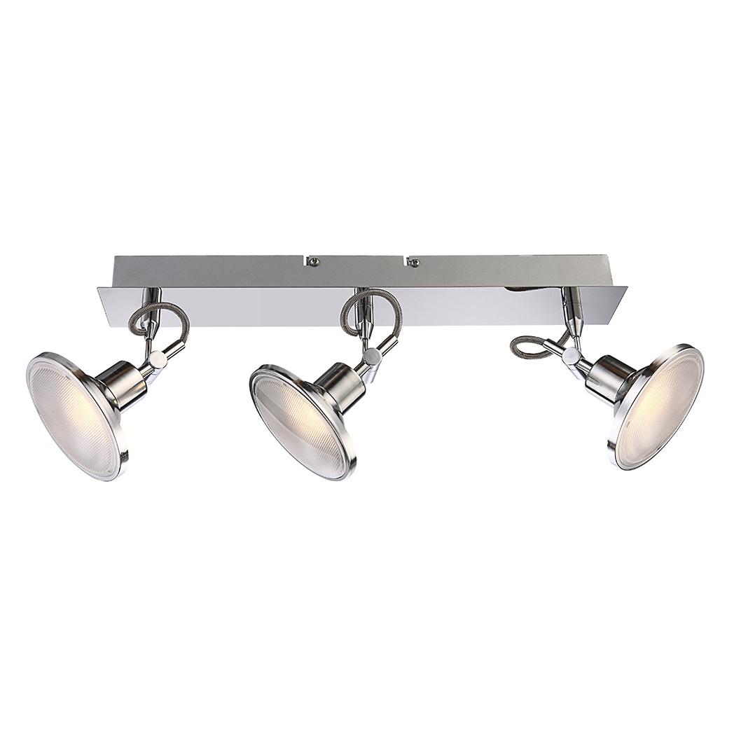 Strahler AARON – Metall – Silber – 3-flammig, Globo Lighting günstig online kaufen
