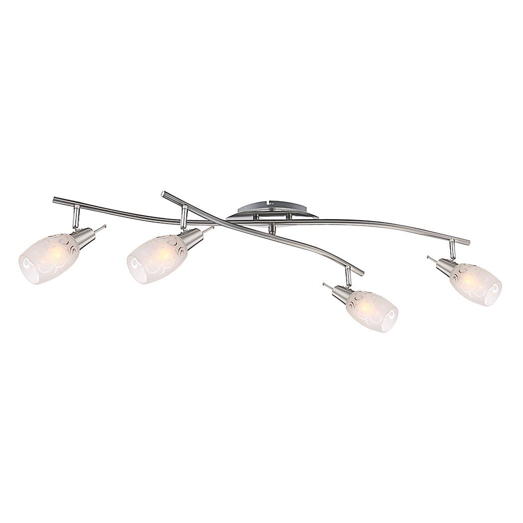 EEK A++, Strahler FLORITA – Metall – Silber – 4-flammig, Globo Lighting günstig bestellen