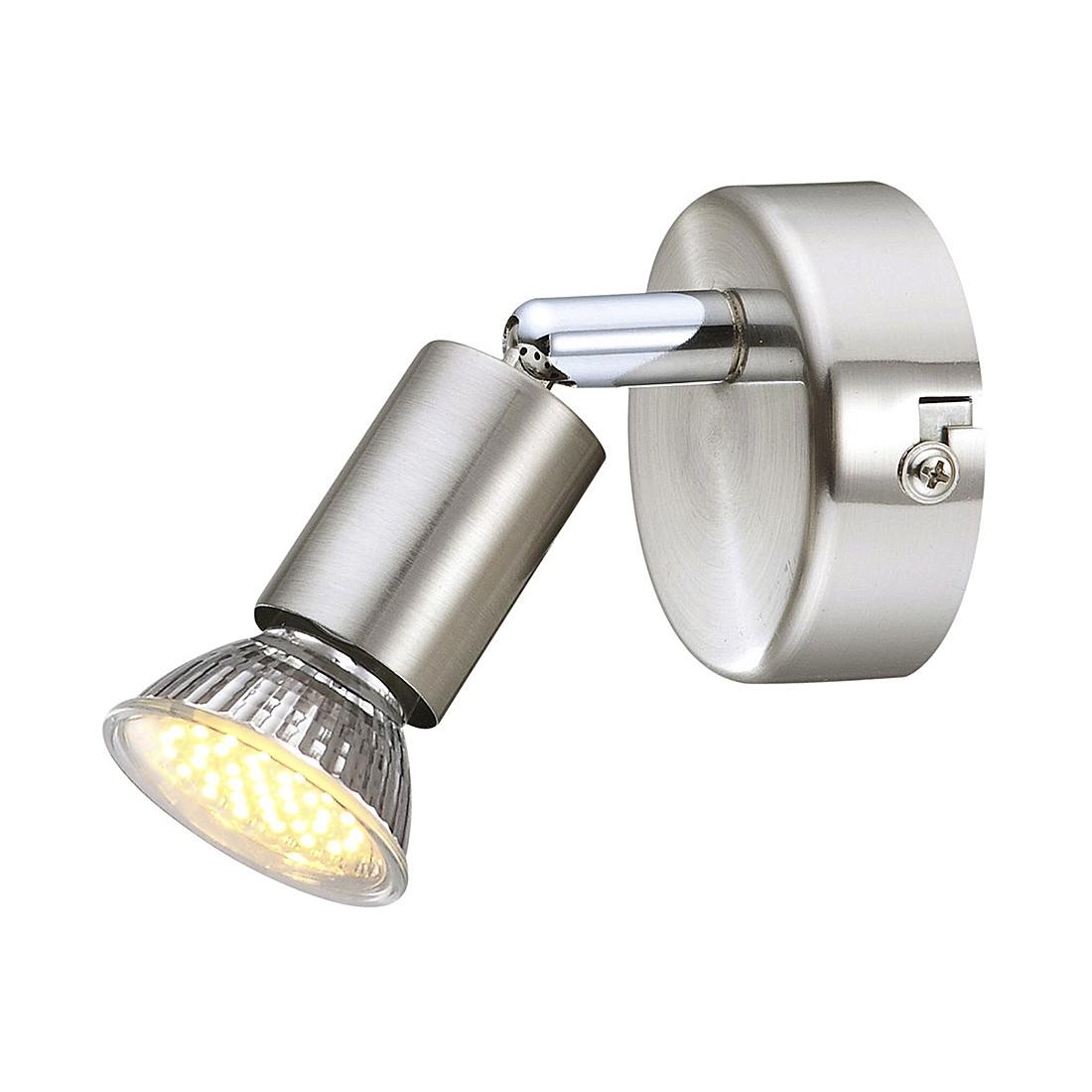 EEK A+, Strahler MATRIX I – Metall – Silber – 1-flammig, Globo Lighting jetzt kaufen