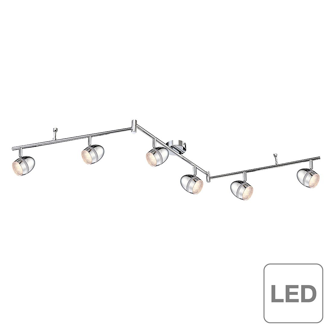 Strahler Strahler Chrom - 6-flammig, Globo Lighting
