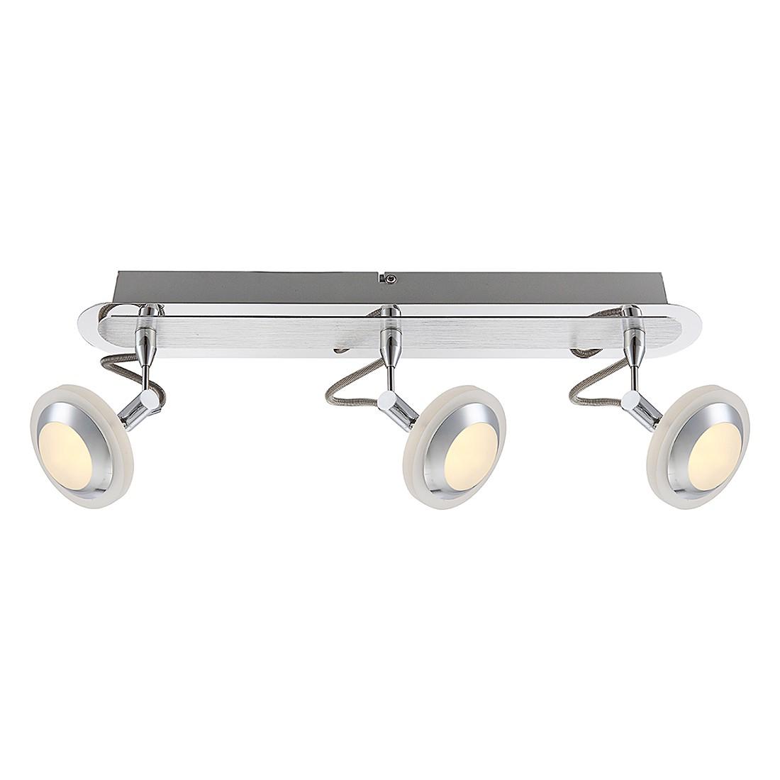 Strahler STRAHLER CHROM, ALUMINIUM, 3XLED – Aluminium – Silber – 3-flammig, Globo Lighting jetzt bestellen