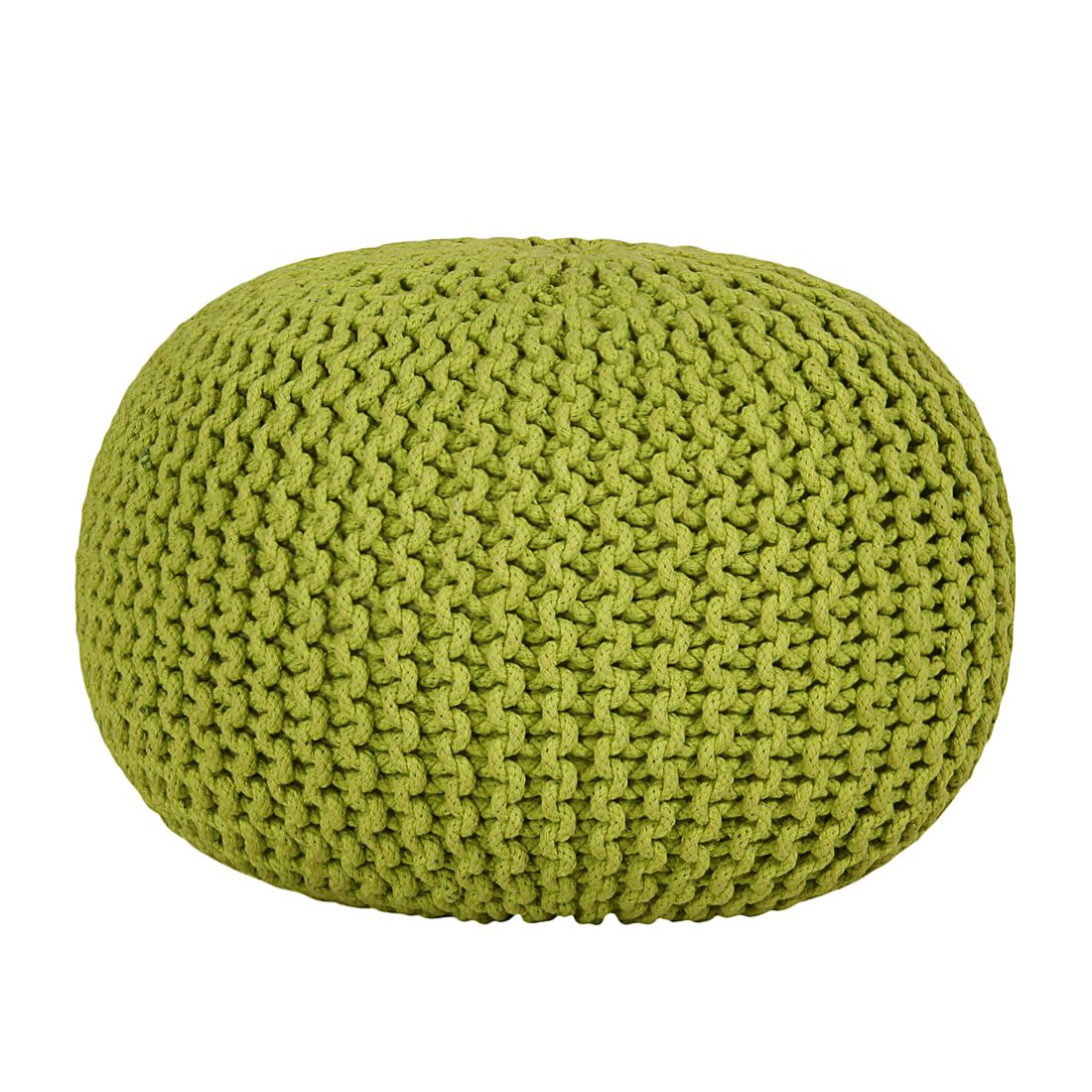 pouf tricot lili vert diam tre 25 cm pictures to pin on pinterest. Black Bedroom Furniture Sets. Home Design Ideas