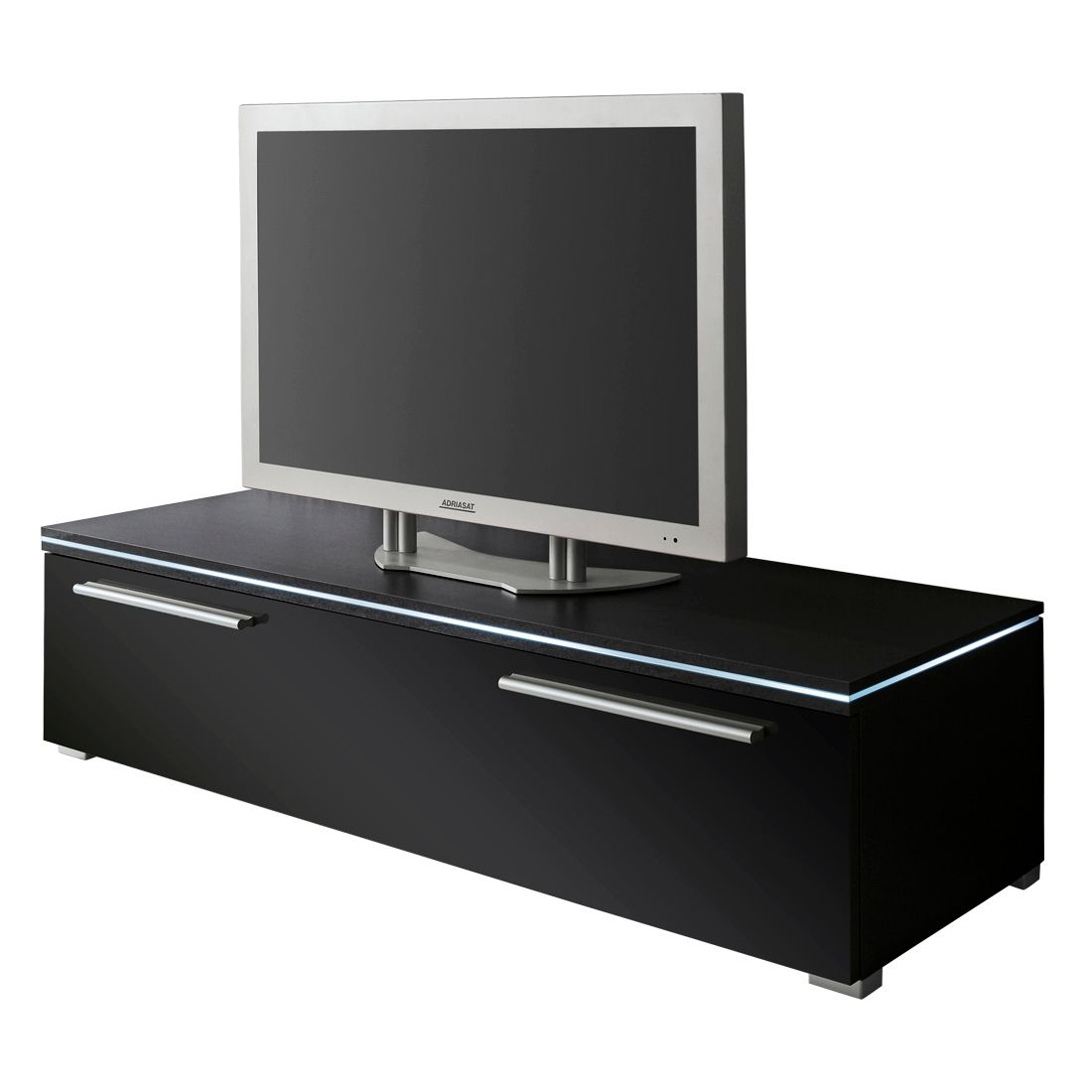 tv lowboard stripe schwarz breite 150 cm schrank. Black Bedroom Furniture Sets. Home Design Ideas