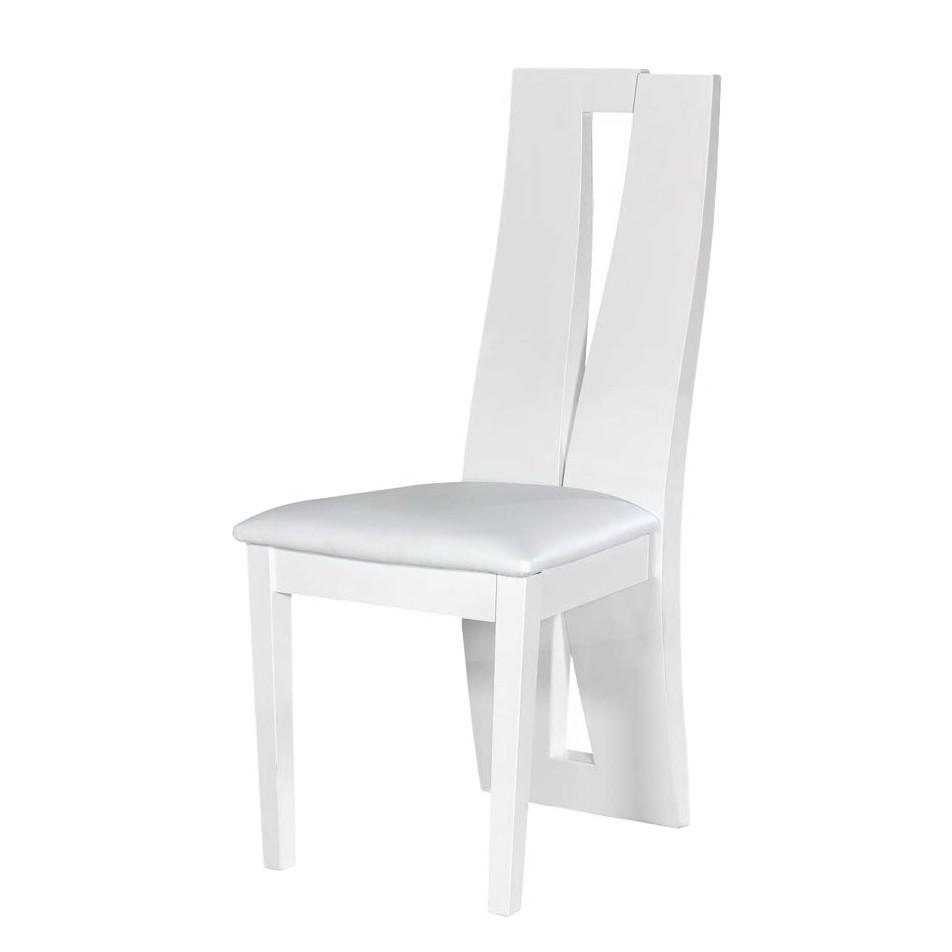 stuhl astelun wei hochglanz mdf kunstleder violata furniture kaufen. Black Bedroom Furniture Sets. Home Design Ideas