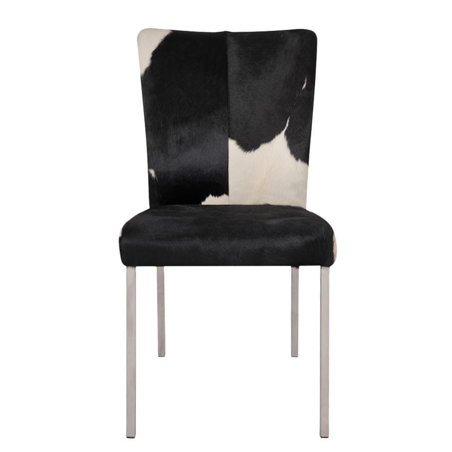 Stuhl Cowny – Buffalo Leder Kuhfell – Schwarz/Weiß, furnlab jetzt bestellen