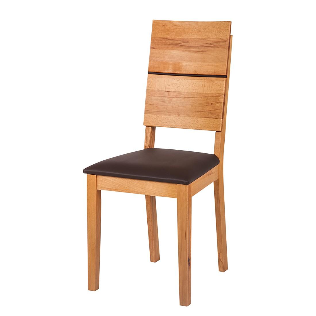 stuhl richwood 2er set kernbuche massiv kunstleder braun ars natura online bestellen. Black Bedroom Furniture Sets. Home Design Ideas