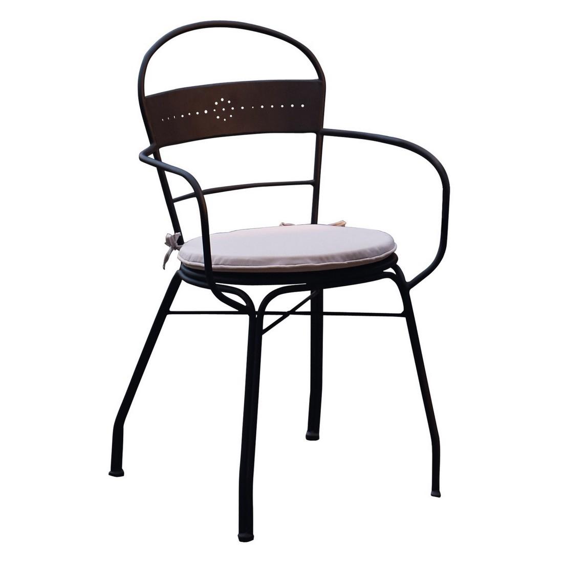Loberon Stuhl Othon - Eisen schwarz, Loberon