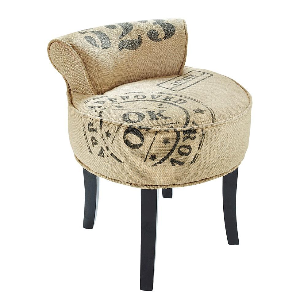 Stuhl Stamp – Jute/Holz – Beige, PureDay jetzt bestellen