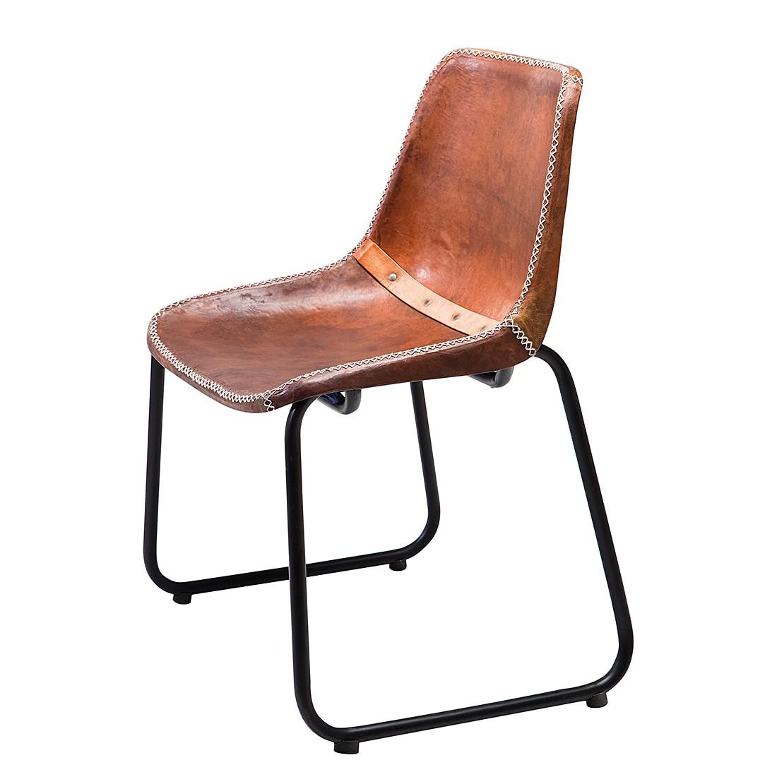Stoel Vintage Bruin Echt Leer Kare Design Aanbieding Kopen