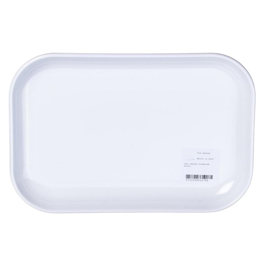 Tablett Mia – Melamin – Weiß – 2 x 16 x 23 cm, Ole Jensen jetzt kaufen