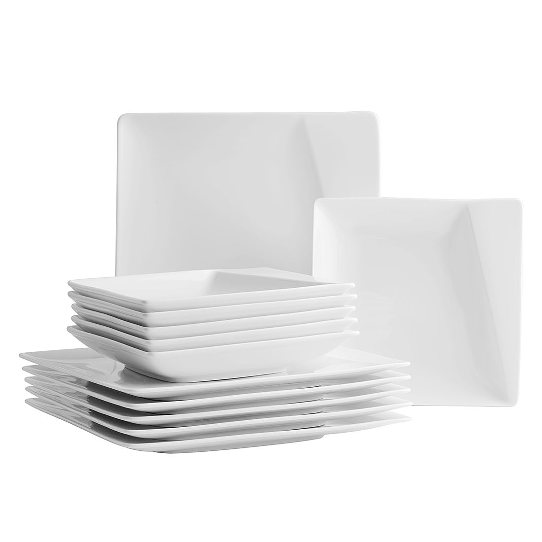Tafelservice (12- teilig) Quadro Pi – Porzellan/Weiss, Mäser jetzt bestellen