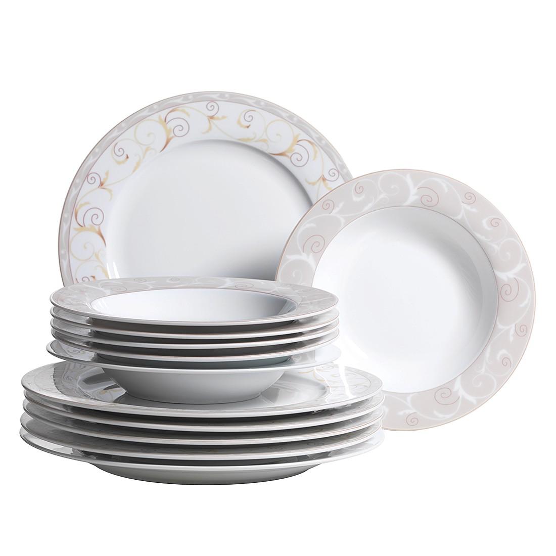 Tafelservice (12- teilig) Superwhite – Porzellan/Mehrfarbig, Mäser günstig kaufen