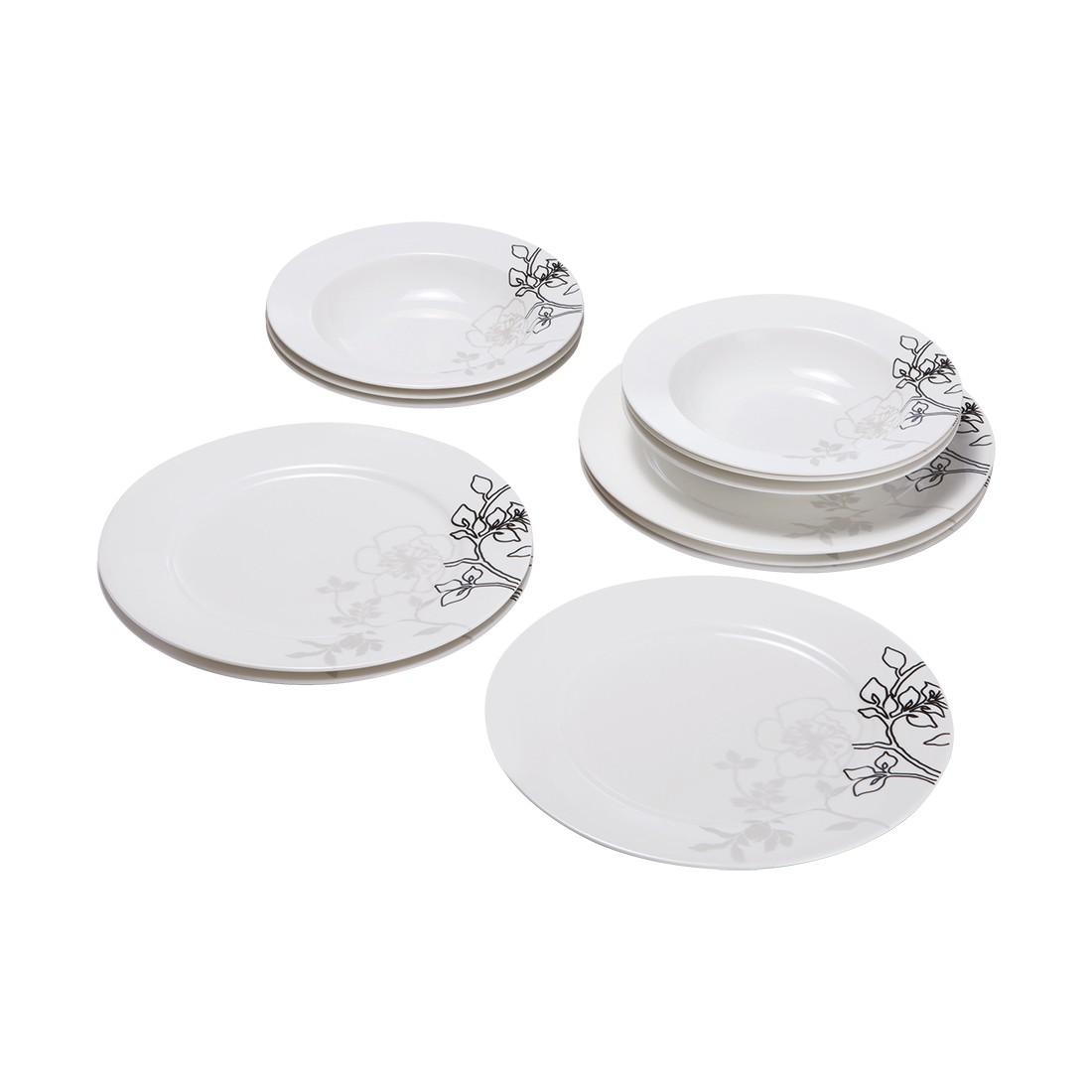 tafelset moon shadow 12 tlg porzellan wei maxwell und williams online kaufen. Black Bedroom Furniture Sets. Home Design Ideas