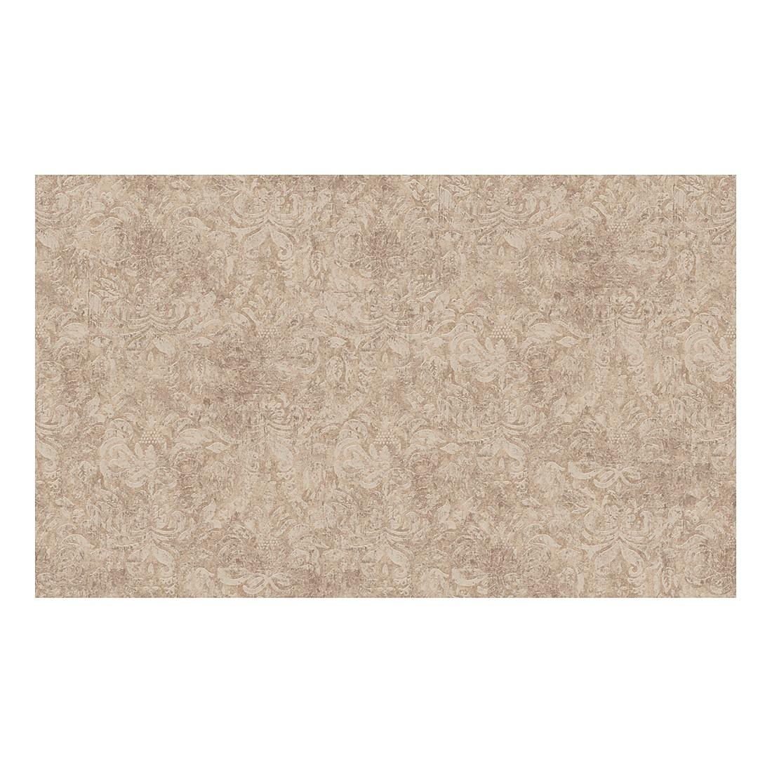 Tapete Bohemian – braun – metallic – strukturiert, Home24Deko günstig bestellen
