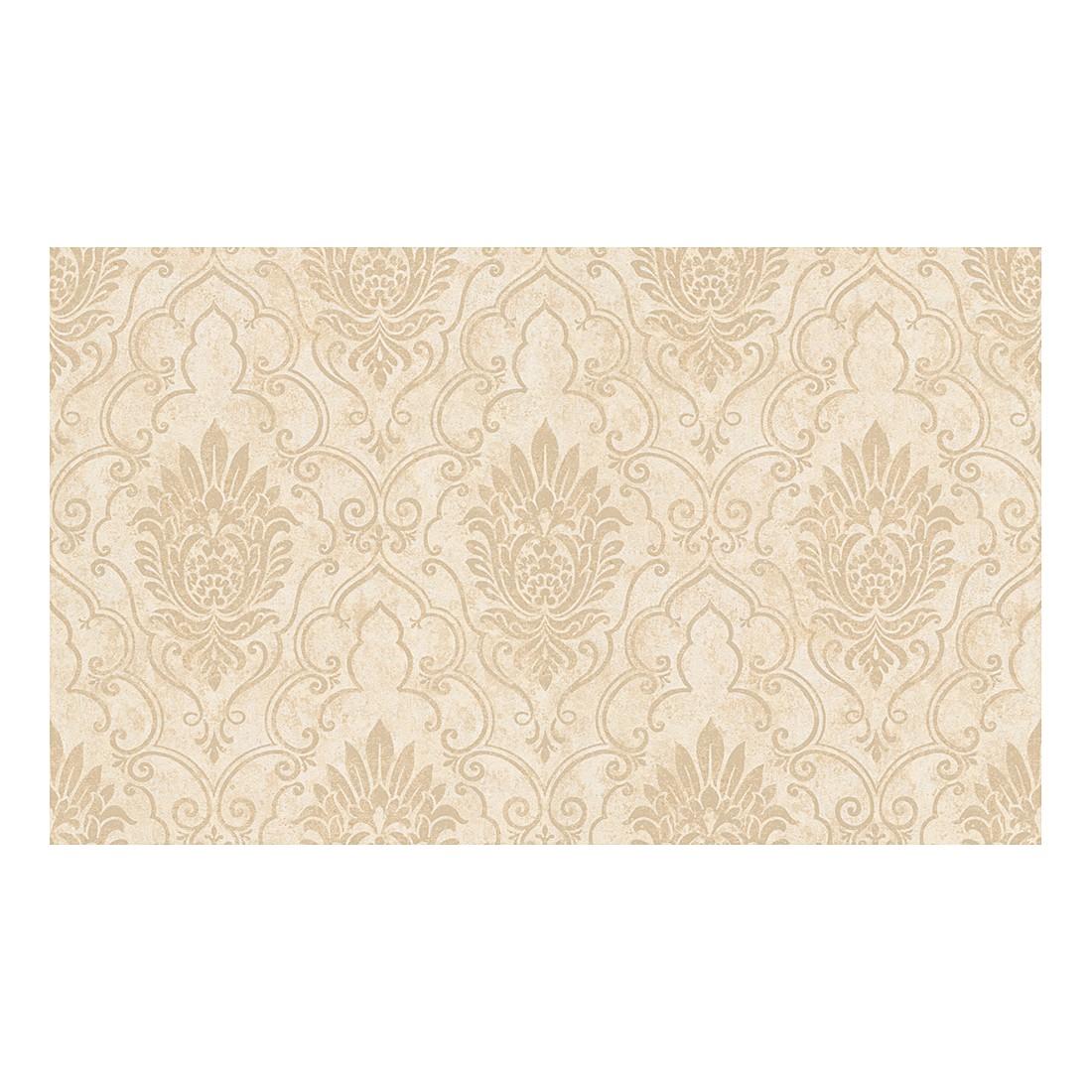 Tapete Bohemian – creme – beige – metallic – strukturiert, Home24Deko kaufen
