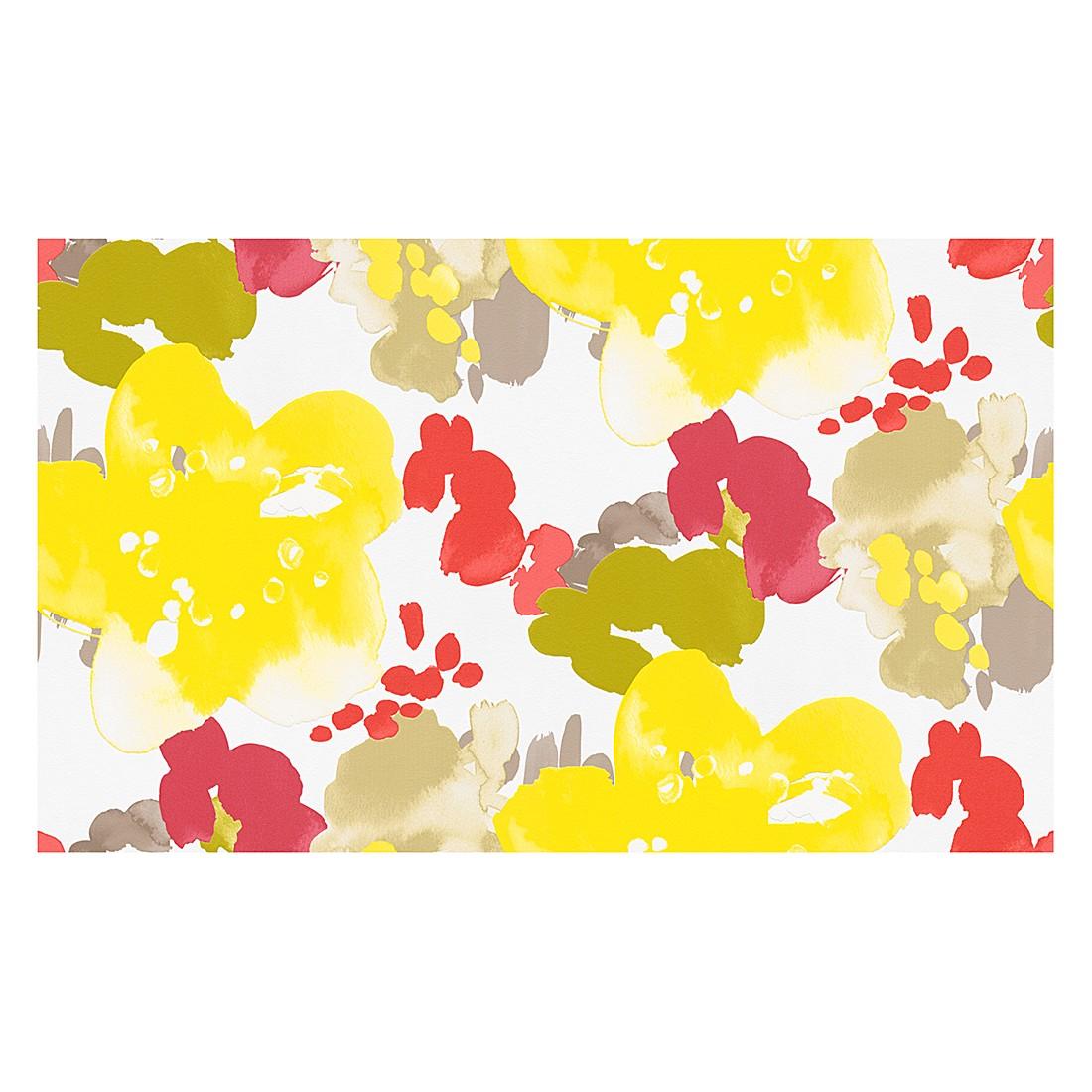 Tapete Buenos Aires – signalweiß, zinkgelb, farngrün, erbeerrot, reinrot, khakigrau, graubeige – strukturiert – fein strukturiert – glatt, Esprit Home online bestellen
