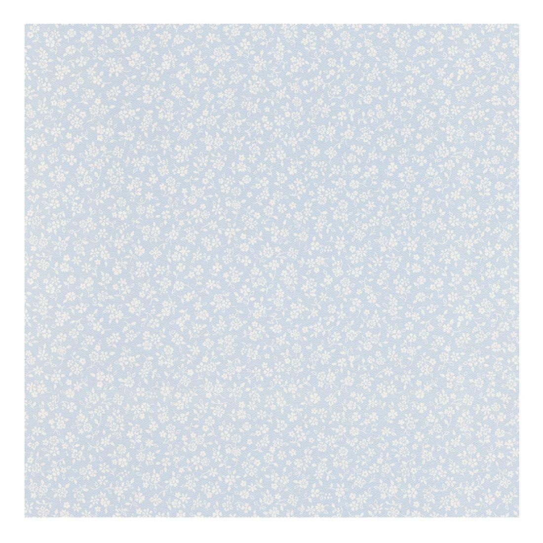 Tapete Fleuri Pastel – pastellblau, weiß – fein strukturiert, Home24Deko online kaufen