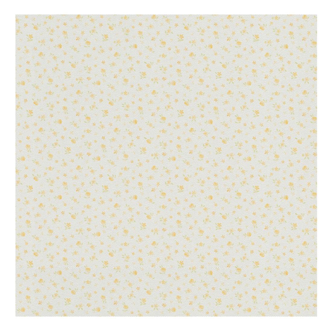 Tapete Fleuri Pastel – weiß, safrangelb, hellgrün – fein strukturiert, Home24Deko online kaufen