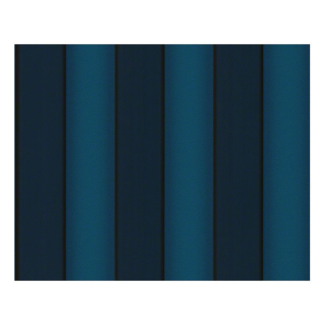 Tapete Herald – grünblau – azurblau – schwarz – metallic – strukturiert – fein strukturiert – Modell 2, VERSACE Home günstig bestellen