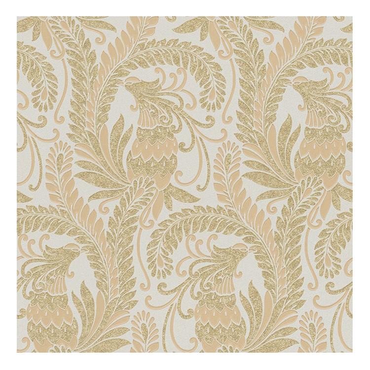 Tapete Hermitage – cremeweiß, beige, goldfarben, metallic – fein strukturiert, Home24Deko günstig kaufen
