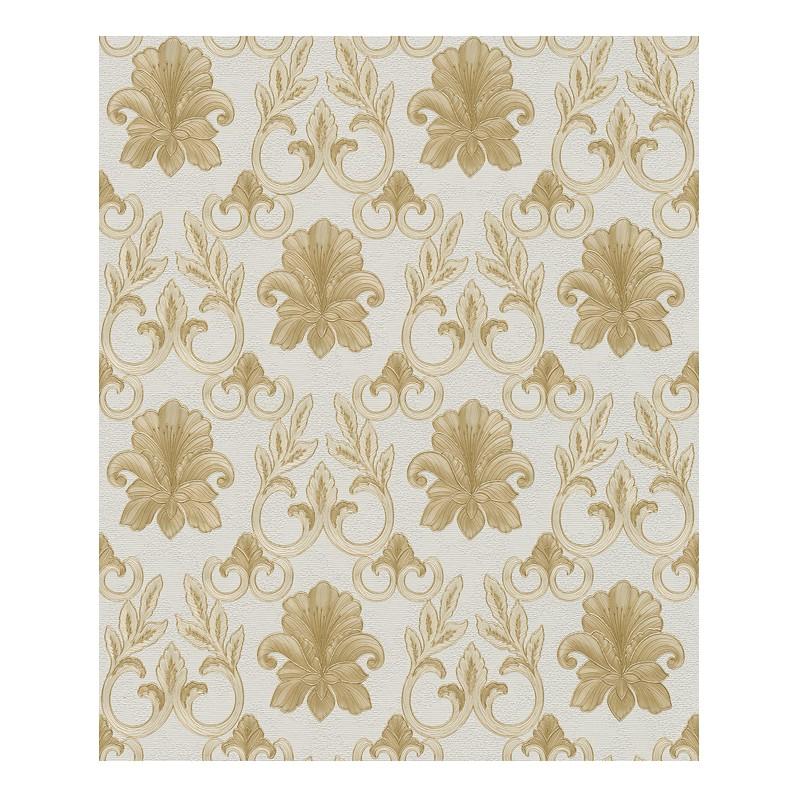 Tapete Hermitage – reinweiß, cremeweiß, goldfarben, metallic – fein strukturiert, Home24Deko jetzt bestellen