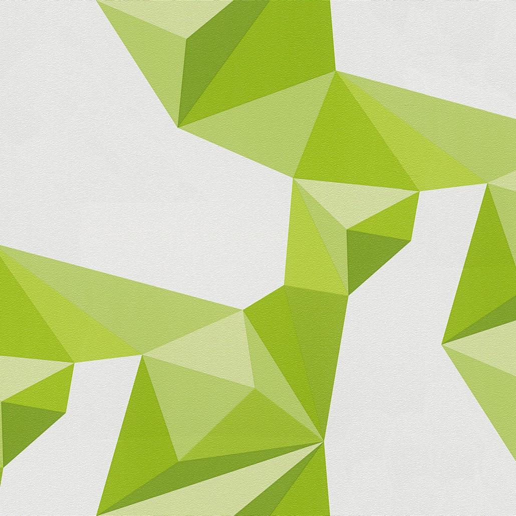 Tapete Origami – Reinweiß, Farngrün, Apfelgrün, Pastellgrün – Fein Strukturiert, Lars Contzen kaufen