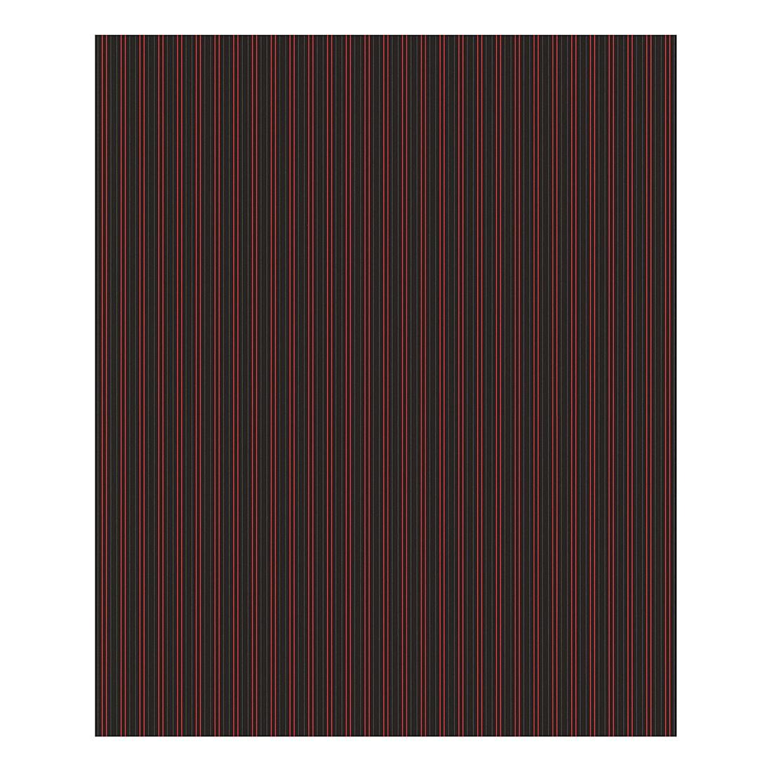 Tapete Stripe – schwarz – rot – staubgrau – metallic – fein strukturiert – glatt, Porsche Design Studio günstig kaufen