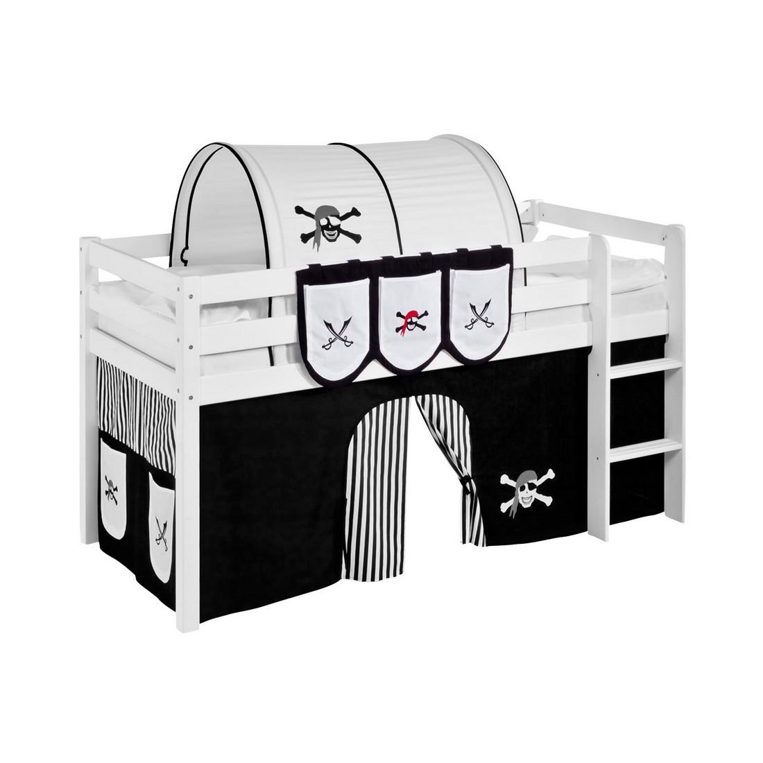 Taschen für Hochbett Spielbett Pirat-Schwarz-Weiß, Lilokids
