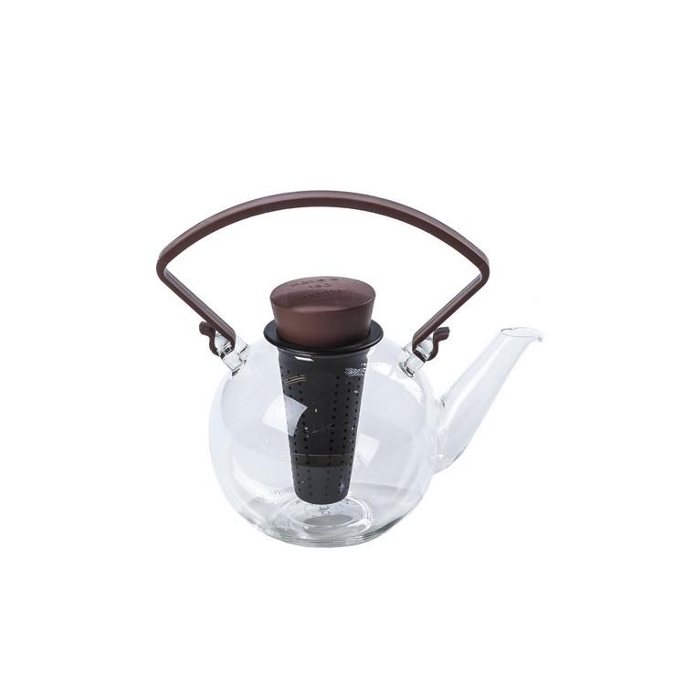 Teekanne Bowl mit abnehmbarem Griff – Glas – Braun, Qdo günstig bestellen