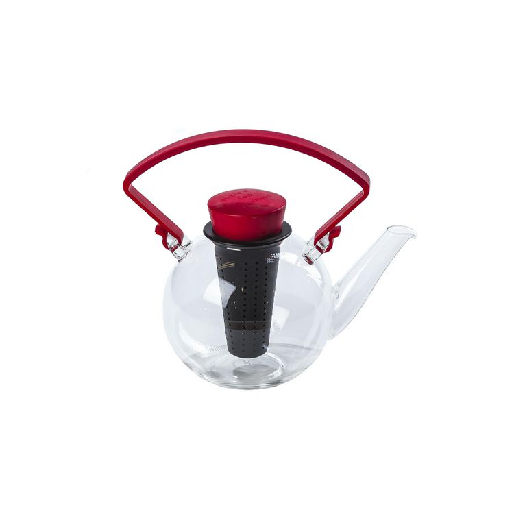 Teekanne Bowl mit abnehmbarem Griff – Glas – Rot, Qdo online bestellen