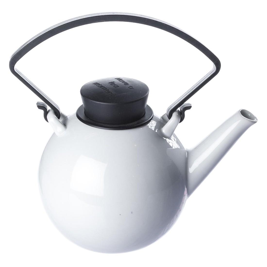Teekanne Bowl mit abnehmbarem Griff – Porzellan – Schwarz, Qdo günstig bestellen
