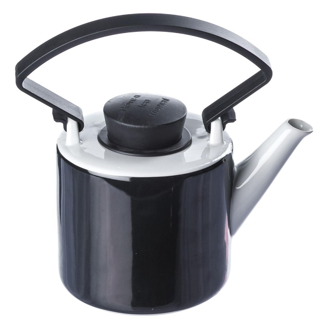 Teekanne Cylinder mit abnehmbarem Griff – Porzellan/Polypropylen – Schwarz, Qdo online bestellen