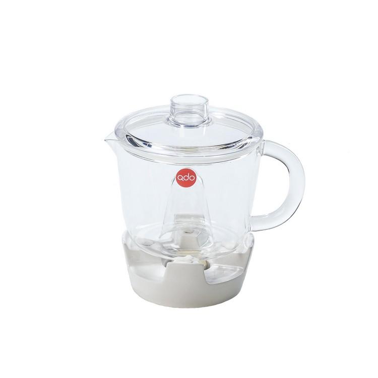 Teekanne mit Stövchen – Glas/Polypropylen – Weiß, Qdo günstig kaufen